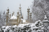 Brighton Pavilion under snow — Stock Photo