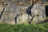 Crooked gravestones — Stock Photo