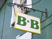 B&B sign — Stock Photo