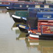 Canal boats (room for text) — Stock Photo