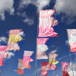 Fluttering flags — Stock Photo
