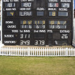 Cricket scoreboard — Stock Photo