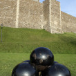 Stock Photo: Cannonballs and castle