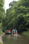 Barge on Grand Union Canal — Stock Photo