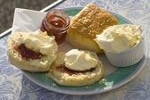 奶油烤饼 — 图库照片