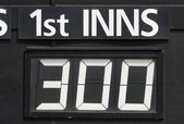 First innings score — Stock Photo