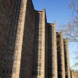 Stock Photo: New Coventry Cathedral in sunlight