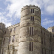 Lulworth castle towers - Stock Photo
