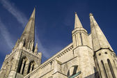 Chichester cathedral against deep blue sky — Stock Photo
