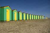 Bright beach huts — Stock Photo