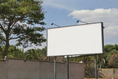 Blank roadside billboard, ready for your message — Stock Photo