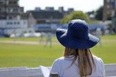 Female cricket fan — Stock Photo