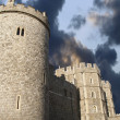 Windsor castle under moody sky — Foto Stock