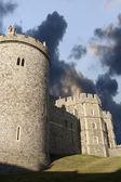 Windsorský hrad pod náladový sky — Stock fotografie