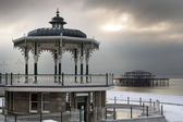 Brighton vinter scen — Stockfoto
