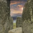 Moody sky framed by Stonehenge — Stock Photo #5105457