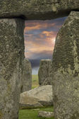 Moody sky framed by Stonehenge — Stock Photo