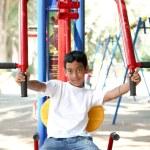 Boy on playground . — Stock Photo