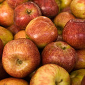 Red apples background . — Stock Photo