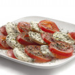 Stock Photo: Mozzarellwith tomatoes