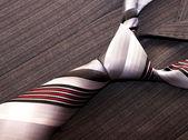 Tie on male jacket — Stock Photo