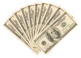 Money on the white — Stock Photo