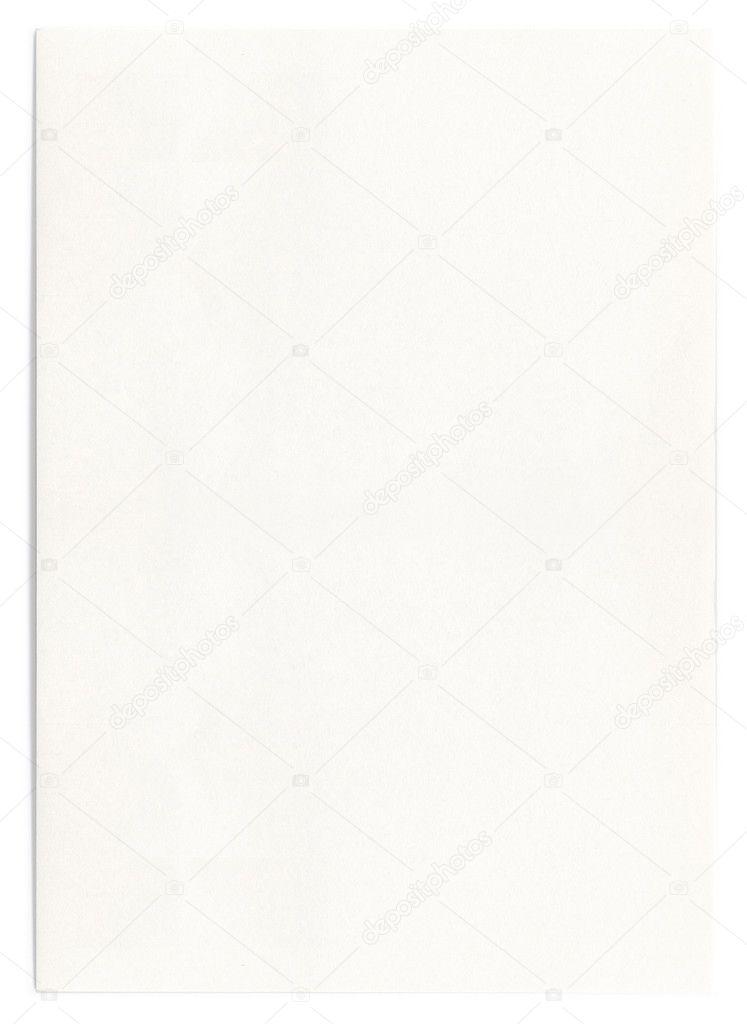 Белый Лист Бумаги Фото