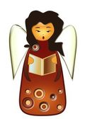 ангел петь колядки — Cтоковый вектор
