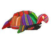 Colorfully striped and handmade turtle. — Stock Photo
