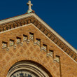 Cross placed on church roof. - Stok fotoraf