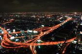 Bangkok Express Way at night — Stock Photo