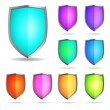 Stock Vector: Glossy shields