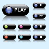 Colorful web buttons — Wektor stockowy
