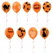 Stock Vector: Halloween balloons