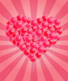 Colorful Heart Shaped Balloons Valentine Card — Stock Vector