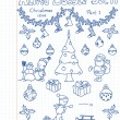 Royalty-Free Stock Vector Image: A Christmass collection of doodles