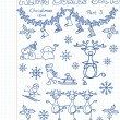 Royalty-Free Stock Vector Image: A Christmas collection of doodles