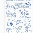 Royalty-Free Stock Vector Image: A happy new year / valentine collection of doodles