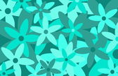 Un motif floral style rétro chic — Vecteur
