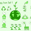 Stock Vector: Set of ecology icons in doodle style