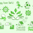 Stock Vector: Great set of ecology icons in doodle style