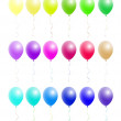 A nice set of colorful balloons — Stock Vector