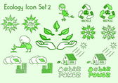 A great set of ecology icons in doodle style — Stock Vector