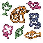 Cat, mouse, fish,bird — Stock Vector #5264402