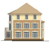 Apartment house — Stock Vector