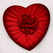 Red Heart with Flower — Stock Photo