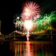 Royalty-Free Stock Photo: River dance festival fireworks at Brisbane
