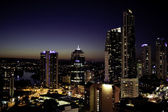 Skyscrapers on Gold Coast during the night — Stock Photo