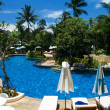 Tropical resort with swimming pool — Stockfoto