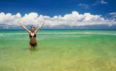 A beautiful woman wearing a bikini — Stock Photo